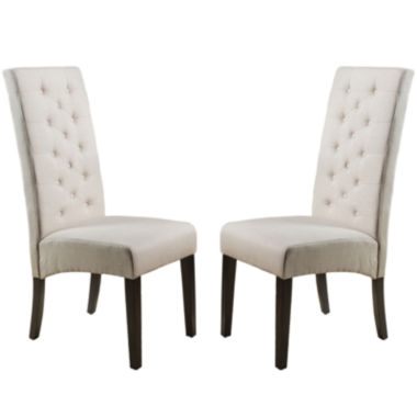 jcpenney.com | Eben Set of 2 Tufted Upholstered Dining Chairs