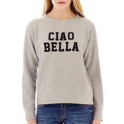 MNG by Mango® Long-Sleeve Ciao Bella Sweatshirt