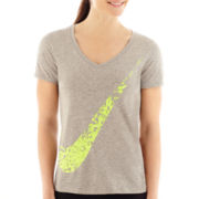 Nike® Short-Sleeve DFC Graphic V-Neck T-Shirt