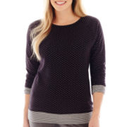 Made For Life™ Reversible Dot/Stripe Sweatshirt