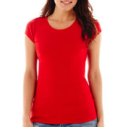 Stylus™ Short-Sleeve Ribbed Solid Crewneck T-Shirt