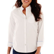 Stylus™ Long-Sleeve Slim Fit Oxford Button Front Shirt