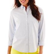 Stylus™ Long-Sleeve Striped Oxford Shirt
