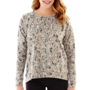 Liz Claiborne® Long-Sleeve High-Low Sweatshirt