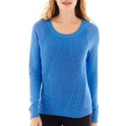 Worthington® Long-Sleeve Textured Sweater