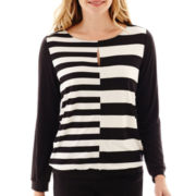 Worthington® Long-Sleeve Keyhole Top