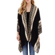 Lily Star Long-Sleeve Print Kimono