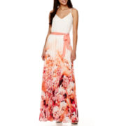 Bisou Bisou® Sleeveless V-Neck Pleated Maxi Dress