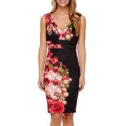 Bisou Bisou® Sleeveless Floral Bodycon Dress