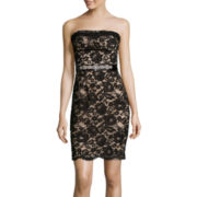 Bisou Bisou® Strapless Lace Sheath Dress