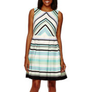 Danny & Nicole® Sleeveless Print Fit-and-Flare Dress