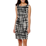 Alyx® Sleeveless Windowpane Sheath Dress