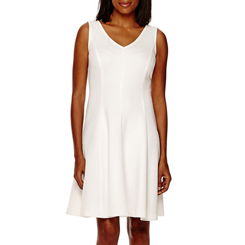 R&K Originals® Sleeveless Fit-and-Flare Dress