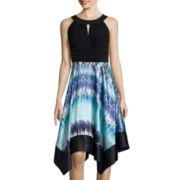 Melrose Sleeveless Handkerchief Hem Dress