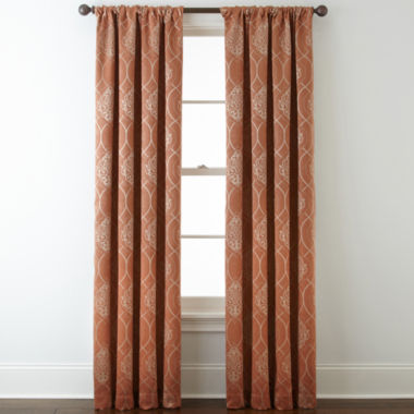 jcpenney.com | Home Expressions™ Sorrento Blackout Rod-Pocket Curtain Panel