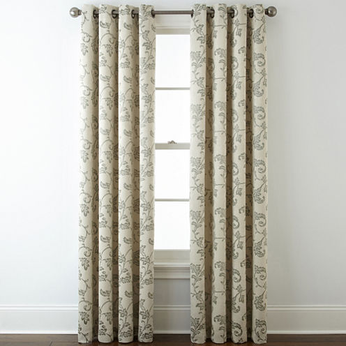 Home Expressions™ Glendale Leaf Grommet-Top Blackout Curtain Panel