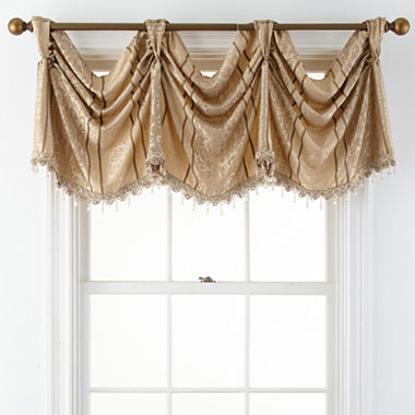 Window Treatment jcpenney valances window treatments : Brittany Empire Rod-Pocket Valance - JCPenney