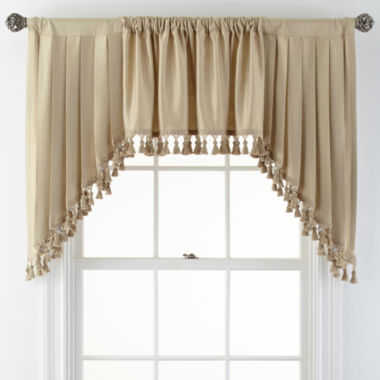 jcpenney.com | Royal Velvet® Supreme Rod-Pocket Lined Swag Window Valance Pair