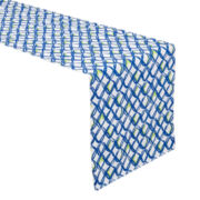 Outdoor Oasis™ Castaway Blue Indoor/Outdoor Table Runner