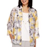 Alfred Dunner® Santa Clara  3/4 Sleeve Layered Top