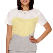 Alfred Dunner® Santa Clara Short Sleeve Colorblock Top