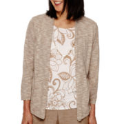 Alfred Dunner® African Safari 3/4-Sleeve Layered Sweater