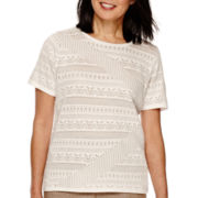 Alfred Dunner® African Safari  Short Sleeve Sweater