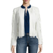 a.n.a® Long-Sleeve Fringe Jacket