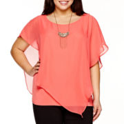 Alyx® Solid Asymmetical Tank with Necklace - Plus