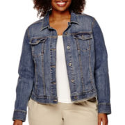 Liz Claiborne® Long-Sleeve Denim Jacket