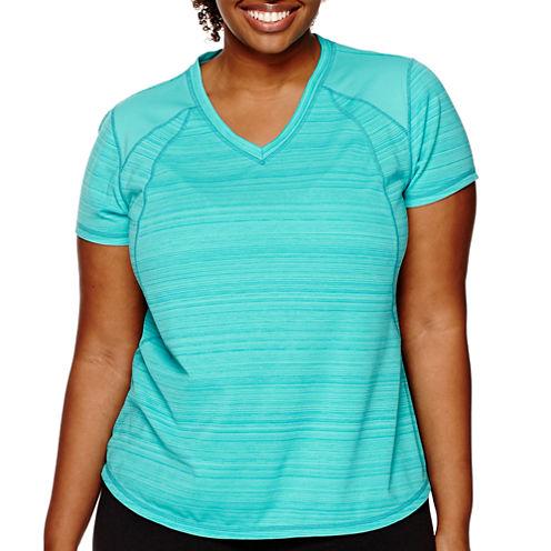 Xersion™ Short-Sleeve Mesh T-Shirt - Plus