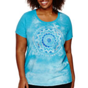 Made for Life™ Scoop Neck Medallion Tee - Plus