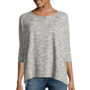 a.n.a® Long-Sleeve Draped-Hem Top