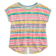 Arizona Crochet Back Print Top - Girls 7-16 and Plus