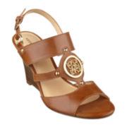 Liz Claiborne® Bethani Slingback Wedge Sandals