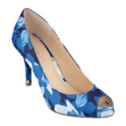 Liz Claiborne Clea Peep-Toe High Heel Pumps