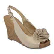 A2 by Aerosoles® Plush Garden Slingback Wedge Sandals