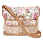 Olsenboye® Floral Glitter Messenger Bag