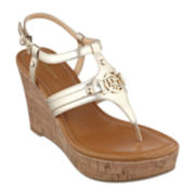 Liz Claiborne Malibu Wedge Sandals
