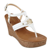 Liz Claiborne® Malibu Wedge Sandals