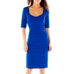 Bisou Bisou® Elbow-Sleeve Sweetheart-Neckline Dress