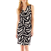 Worthington® Faux-Wrap Knit Sheath Dress
