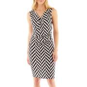 Worthington® Faux-Wrap Knit Sheath Dress