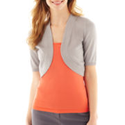 Worthington® Elbow-Sleeve Bolero Shrug Sweater