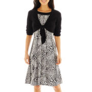 Perceptions 2-Pc. Knit Dress with Tie-Front Jacket