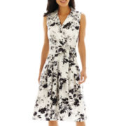 Jessica Howard Floral Print Shirt Dress