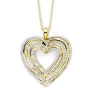 1¼ CT. T.W. Diamond Heart Pendant Necklace