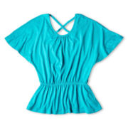 Sally M™ Sally Miller Crisscross-Back Top - Girls 6-16