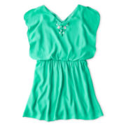 Speechless® Faux Jewel-Trimmed Blouson Dress - Girls 6-16 and Plus