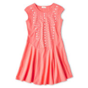 Dreampop® by Cynthia Rowley Studded Skater Dress - Girls 6-16